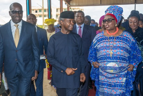 Vice President Yemi Osinbajo attends 75th birthday anniversary of Archbishop Margaret Idahosa and the Golden Jubilee of the Church of God Mission International in Benin earlier today. 15th September 2018.