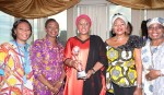 WIFE OF THE PRESIDENT RECEIVES AWARD 1; Wife of the President Dr (Mrs) Aisha Muhammadu Buhari addresses the participants during the award recognizing her outstanding public service and human development especially Women and Children held at the Nigerian mission alongside the UNGA73 New York. Sept 27, 2018,