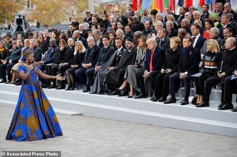 VIDEO: Angelique Kidjo performs at WWI armistice centennial