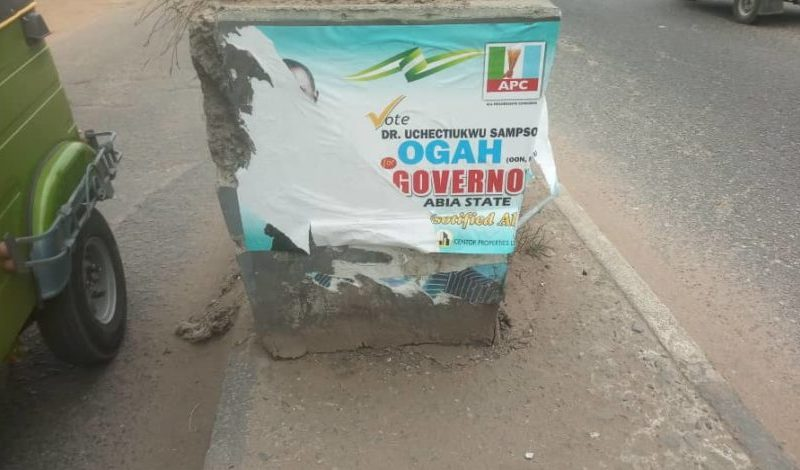 APC raises alarm over destruction of Buhari, Ogah's campaign posters