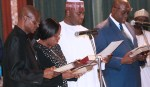 PRESIDENT BUHARI SWEARS-IN NEW PERM SEC AND PRESIDES OVER FEC MEETING. FEB 20 2019
