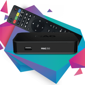 MAG 349 / 350 premium IPTV set-top box