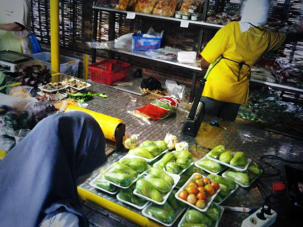 pengemasan sayuran organik