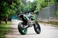 Modifikasi SuperMoto Kawasaki KLX 150