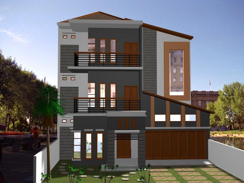 Rumah Minimalis Geometris 3 lantai