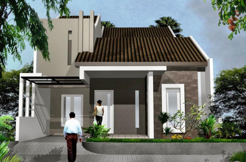 Rumah Minimalis Warna Monokrom Gelap