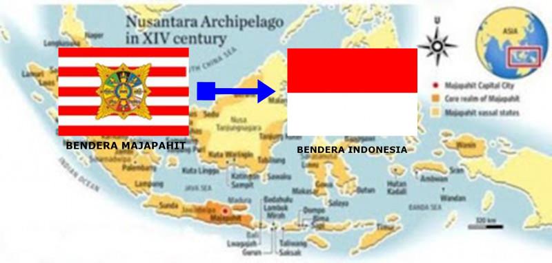 bendera merah putih Kerajaan Majapahit
