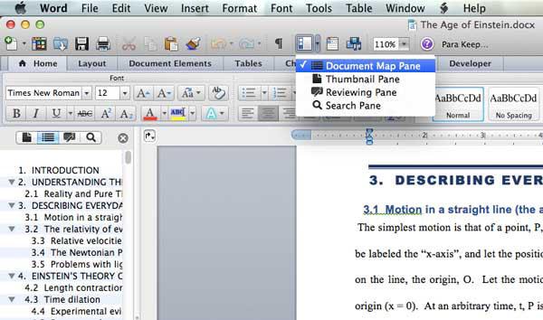 cara membuat daftar isi ms word