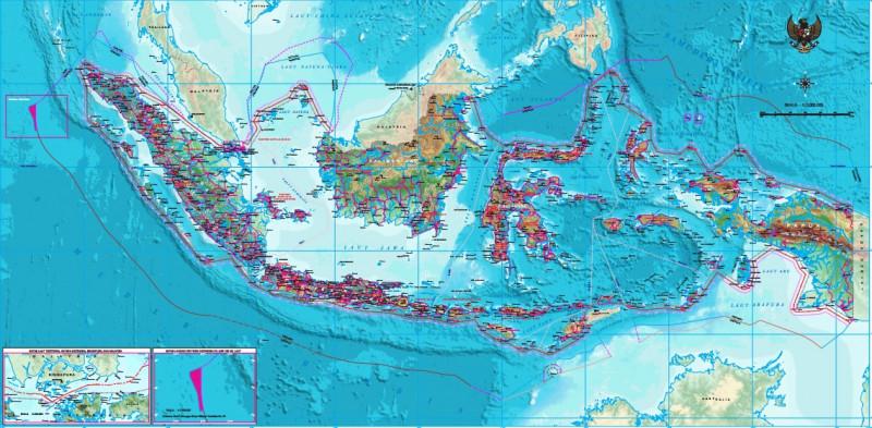 peta indonesia revisi terbaru
