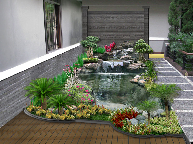 taman minimalis di dalam rumah