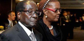 Robert Mugabe in the Memorial service of late Nelson Mandela 2013