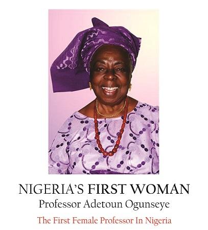 Nigeria First Female Prof. Adetoun Ogunseye