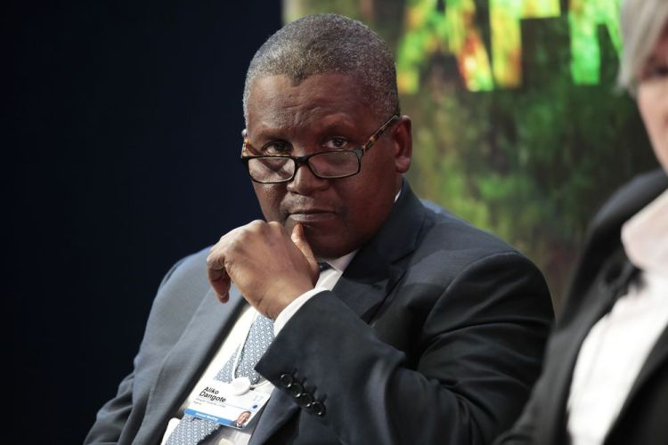 Africa's richest man and Cement tycoon Aliko Dangote