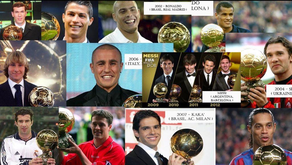 FIFA Ballon d'Or Award Winners Since 1956