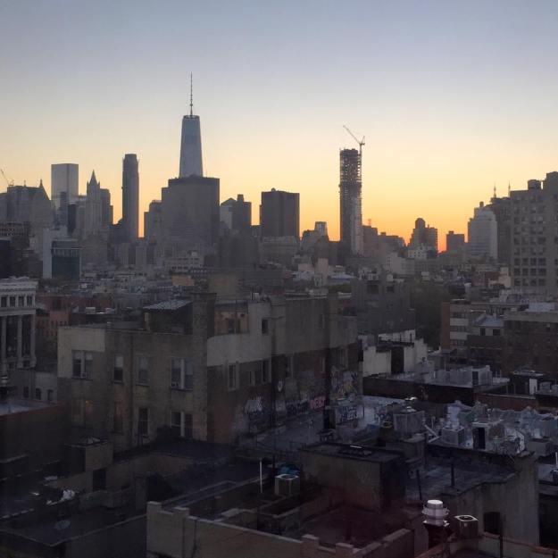 Manhattan Skyline, Sunset