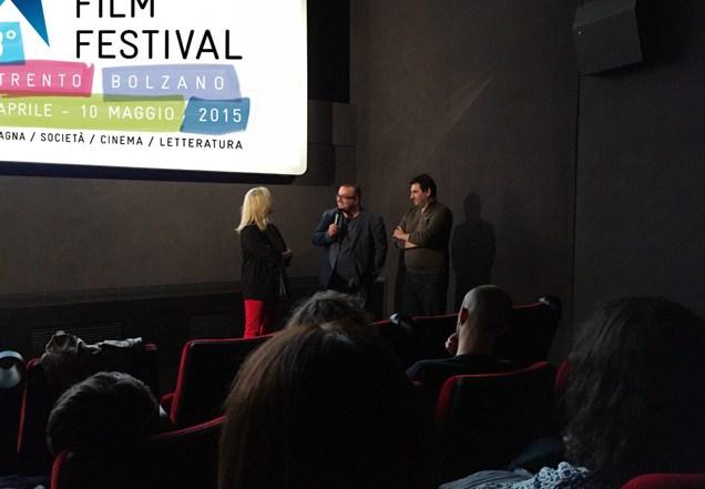 Franco Delli Guanti e Ludovico Maillet dialogano con Heidi Gronauer.