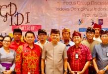 Sekretaris Daerah Provinsi Bali Dewa Made Indra membuka Forum Group Discussion (FGD) Indeks Demokrasi Indonesia (IDI), di Hotel Haris Denpasar