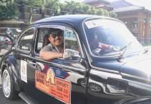 Touring Mobil Klasik, Cok Ace Kampanye Tertib Berlalu Lintas