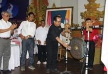 Wakil Gubernur Bali, Tjok Oka Artha Ardana Sukawati membuka Kejuaraan Daerah Pencak Silat Perisai Diri antar Juara, di Gelora Olah Raga Lila Bhuwana-Denpasar