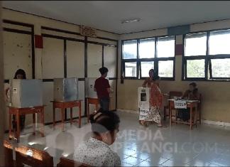 Pemungutan Suara Ulang di TPS 29 Banjar Pangkung, Desa Delod Peken, Tabanan