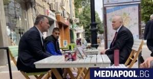 Гешев се качи на фотосесия с Митко Хорапа в Пловдив