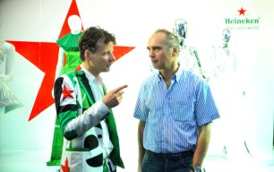Mark Van Iterson, Global Head Design of Heineken engaging Johan Doyer, MD Chief Executive, Nigerian Breweries in a conversation at the Heineken Fashion and Design Week 2017