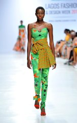 Model wearing a piece from the Africa Inspired Fashion by Heineken at the Heineken Lagos Fashion And Design Week 2017 002