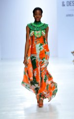 Model wearing a piece from the Africa Inspired Fashion by Heineken at the Heineken Lagos Fashion And Design Week 2017 003