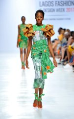Model wearing a piece from the Africa Inspired Fashion by Heineken at the Heineken Lagos Fashion And Design Week 2017 007