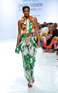 Model wearing a piece from the Africa Inspired Fashion by Heineken at the Heineken Lagos Fashion And Design Week 2017 012