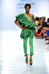 Model wearing a piece from the Africa Inspired Fashion by Heineken at the Heineken Lagos Fashion And Design Week 2017 014