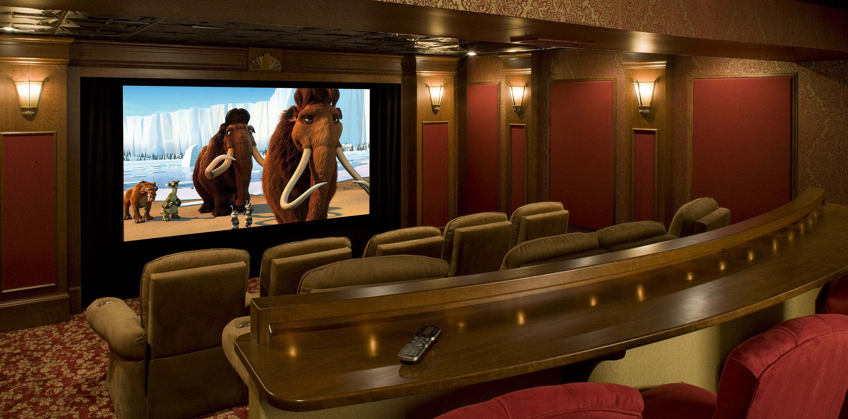 Media Rooms home movie theater design - house automation installation