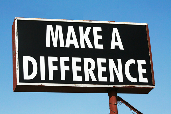 Make a difference sign.