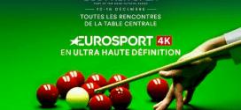 Le Scottish Open de snooker en 4K cette semaine sur Eurosport avec Canal+