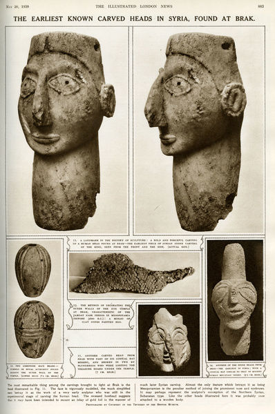 Earliest known carved heads in Syria, at Tell Brak (Print #14352272)