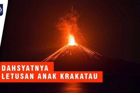 Detik-Detik Anak Gunung Krakatau Meletus