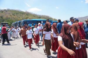 Kemenhub Gelar Trauma Healing Pasca Gempa Lombok