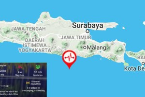 Blitar Diguncang Gempa Bumi 4,4 Skala Richter