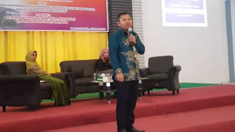 Guru Besar FKM Unhas Urai Healthy Cities dalam Konteks Local wisdom
