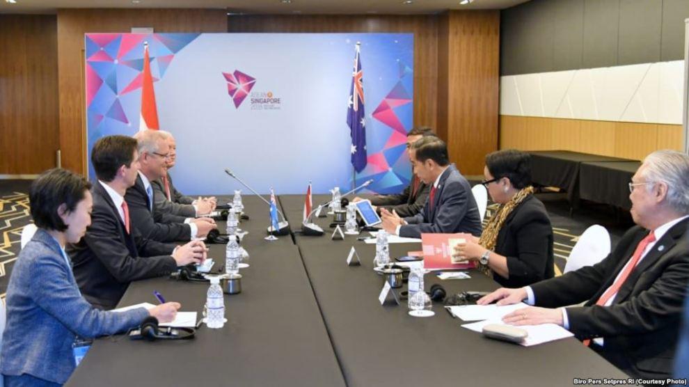 Jokowi-PM Australia Gelar Pertemuan Bilateral