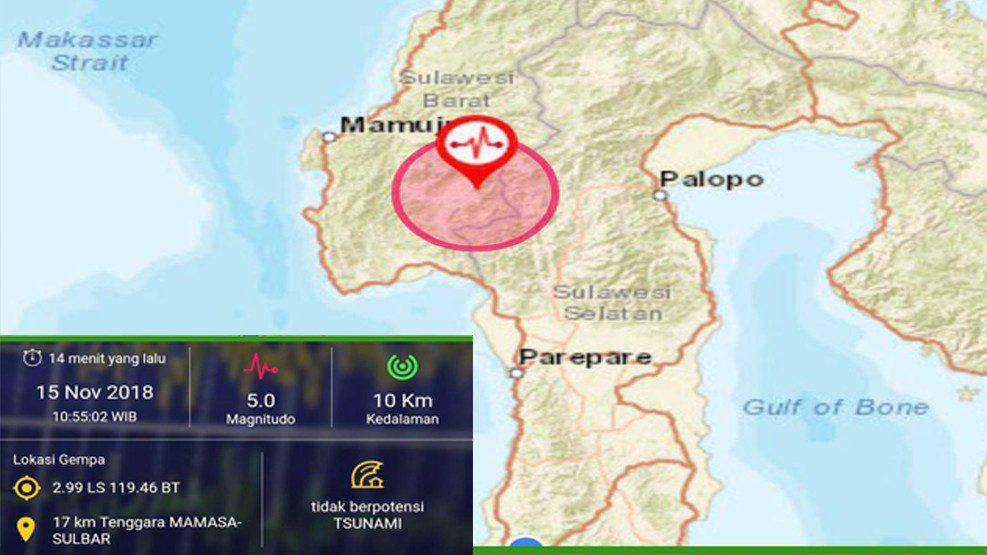 Mamasa Kembali Diterjang Gempa 5 Skala Richter