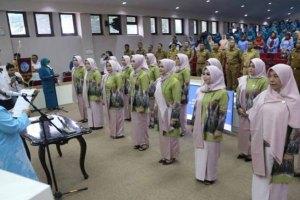 Ketua TP PKK Kota Makassar Indira Yusuf Ismail Lantik Pengurus 14 TP PKK Kecamatan