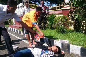 Rekonstruksi Pembunuhan Petani di Pangkep, Tak Ada Penyesalan Di Wajah Pelaku
