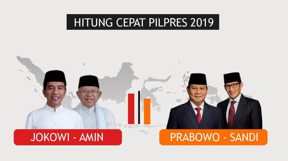 Hitung Cepat Lembaga Survei: Jokowi Amin Ungguli Prabowo Sandi