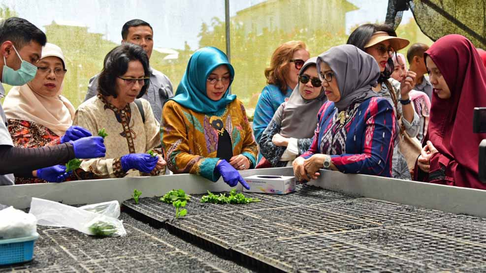 Mufida Jusuf Kalla Kunjungi Malino bersama Istri Wapres Terpilih Ma'ruf Amin