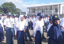 Pengenalan Lingkungan Sekolah (PLS) SMP-SMANKO Sulsel. (foto: ist)