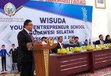 Ciptakan Wiramuda, Diskop UKM Sulsel Wisuda 72 orang Siswa YESS Kadis Koperasi dan UKM Sulawesi Selatan, Abd. Malik Faisal