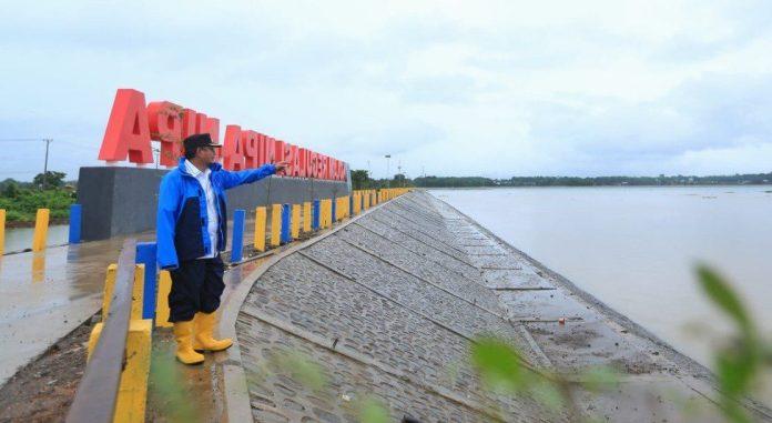 Antisipasi Banjir di Makassar, Iqbal Tinjau Kolam Regulasi Nipa-Nipa