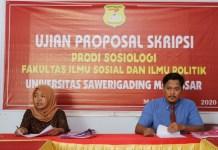 Sosiologi Fisip Unsa Makassar, Ujian Proposal Skripsi Gelombang Pertama
