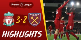 Liverpool 3-2 West Ham